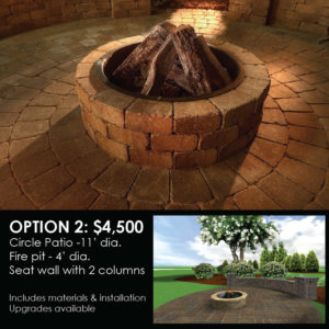 Patio, Fire Pit, Seat Wall & Columns Pre-Fall Special!